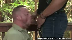 Hunk Sean Duran's Public Cumshot By Uncut Big Black Dick