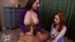 Step Mom & Auntie Mallory Play a Game LADY FYRE & MALLORY SIERRA