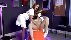 AmateurBoxxx Kenzie Madison And Skylar Vox Trained On Her First Day
