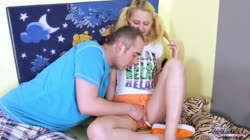Teenyplayground - Big anal punishment for innocent blonde pig tailed teen