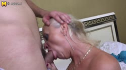 Mature mom takes young cock