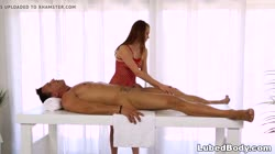 Sage Evans makes a big dick hard on the milking table
